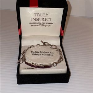 Truly inspired faith bracelet